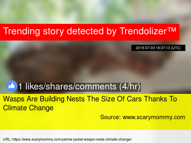Wasps Are Building Nests The Size Of Cars Thanks To Climate Change