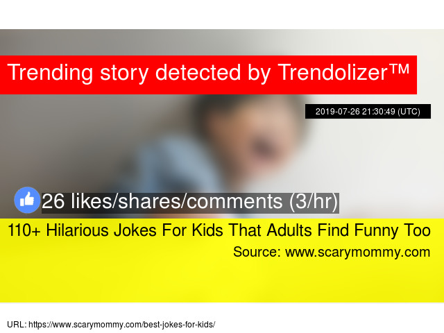110+ Hilarious Jokes For Kids That Adults Find Funny Too