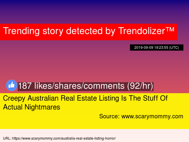Creepy Australian Real Estate Listing Is The Stuff Of Actual