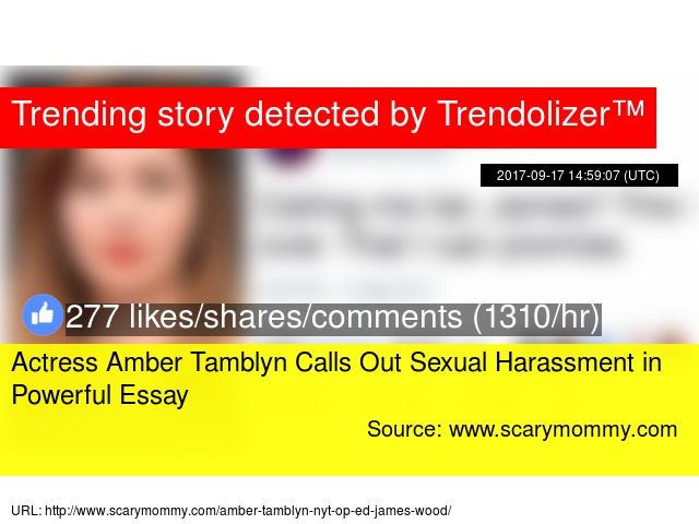 actress amber tamblyn calls out sexual harassment in powerful essay actress amber tamblyn calls out sexual harassment in powerful essay stats