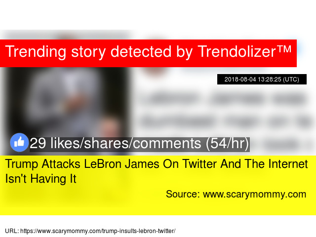 2a1a0f44a0f Trump Attacks LeBron James On Twitter And The Internet Isn  039 t Having It