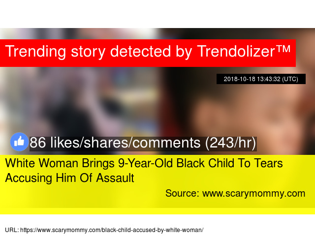 dc73259d2378 White Woman Brings 9-Year-Old Black Child To Tears Accusing Him Of Assault  - Stats